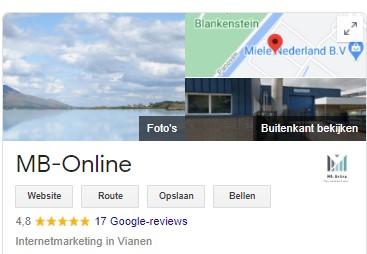 Google Mijn Bedrijf - reviews 2